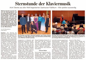 Review of Masterclass Program in Saarlouis, Germany